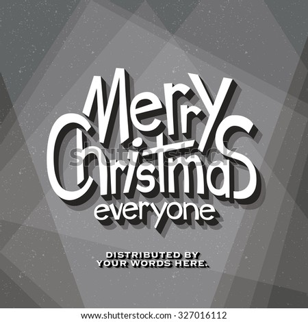 Retro Vintage Cinematic End Credits - Merry Christmas - Vector Background