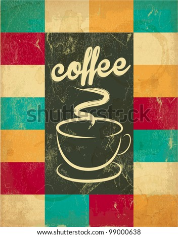 retro vintage coffee background ...