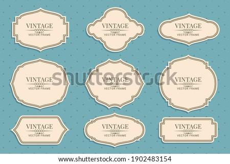 Retro vintage frames collection vector illustration