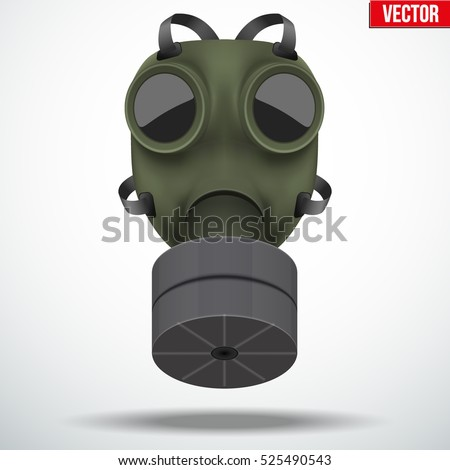 retro vintage gas mask with one