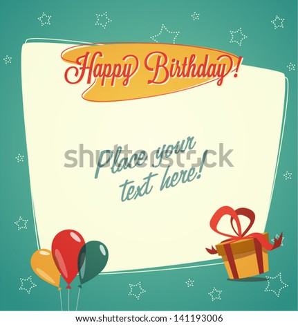 Happy Birthday Cards Retro Retro Vintage Happy Birthday