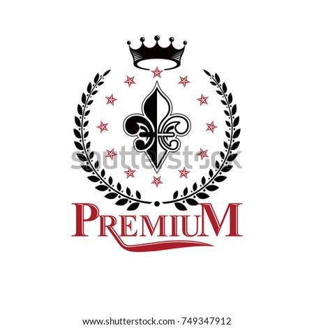 retro vintage insignia composed