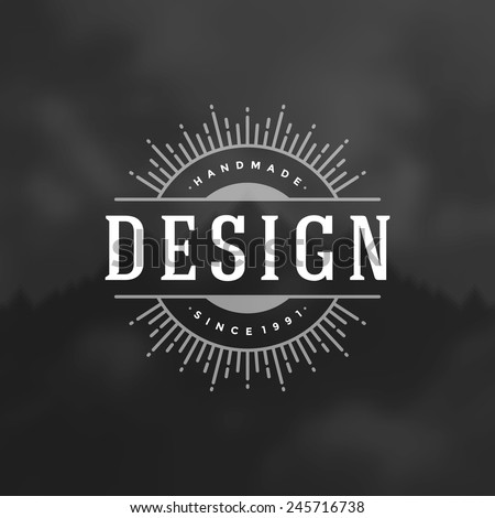 Retro Vintage Insignia, Logotype, Label or Badge Vector design element, business sign template.