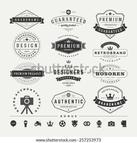 retro vintage insignias or