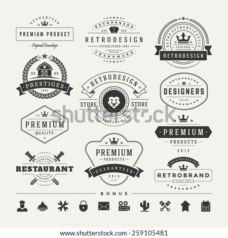 retro vintage insignias or