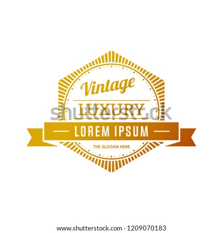 Retro Vintage Insignias or Logotypes. Vector design elements, business signs, logos, identity, labels, badges and objects.