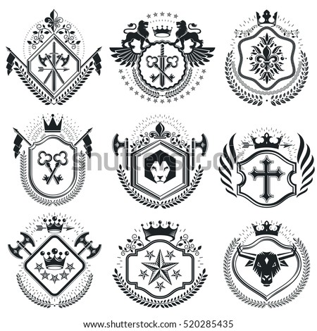 retro vintage insignias. vector ...