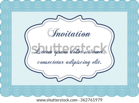 Retro vintage invitation. Superior design. Customizable, Easy to edit and change colors.Easy to print.
