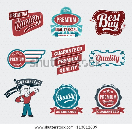 retro vintage labels for print...