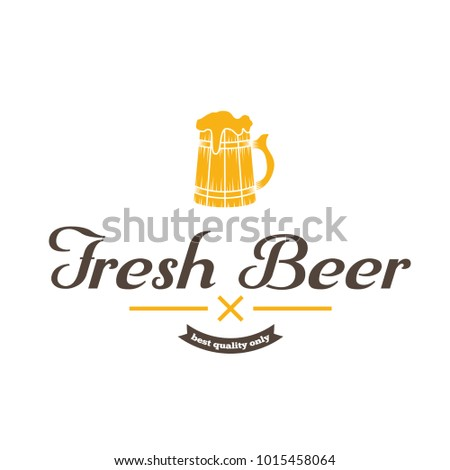 Retro vintage logo, badge, emblem or logotype elements for beer, shop, home brew, tavern, bar, cafe and restaurant