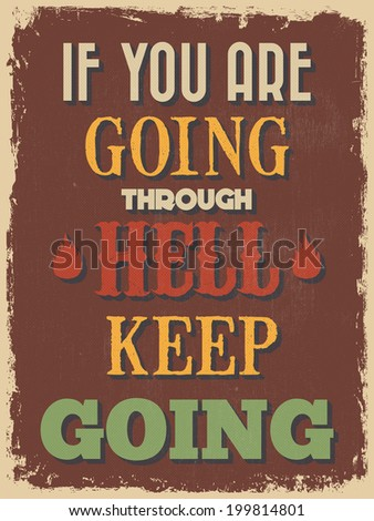 retro vintage motivational
