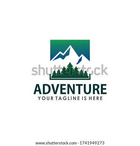 retro vintage mountain explorer
