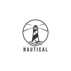 Retro vintage nautical logo badge