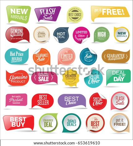 Retro vintage premium quality stickers and labels collection