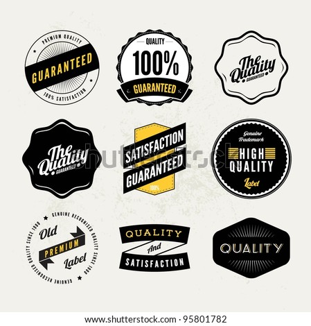 Retro Vintage styled quality labels