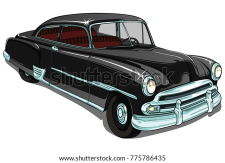 retro vintage vector cars