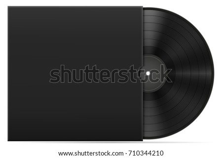 retro vinyl disk in the cover stock vector illustration isolated on white background