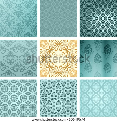 retro wallpaper - stock vector