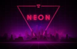 Retro Sci-Fi 80's Triangle Neon Background - Free Stock
