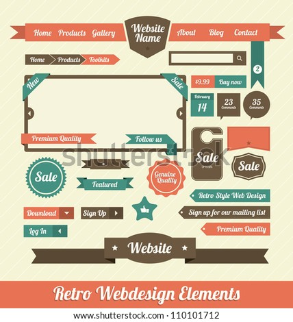 Retro Web Design Elements