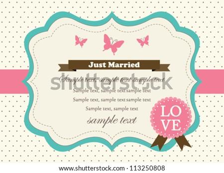 Retro Wedding Invitation Card
