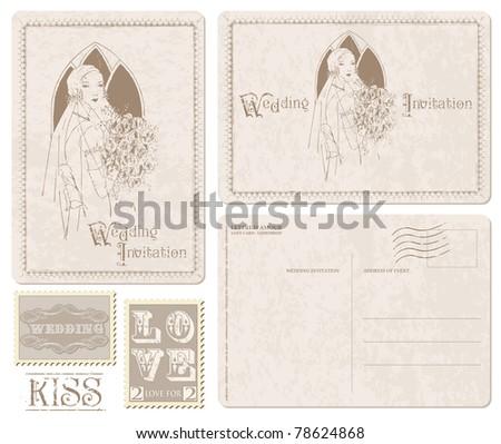 scrapbook wedding invitation