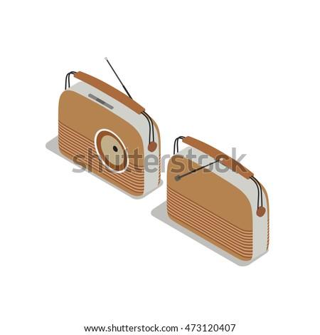 retro wooden music radio