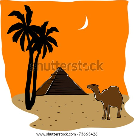 Egyptian Pyramids Clip Art http://www.shutterstock.com/pic-73663426/stock-vector-retro-world-wonder-of-egyptian-pyramid-vector-illustration.html