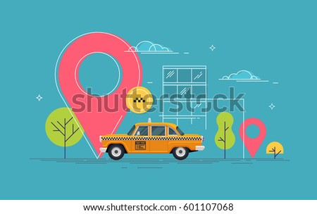 retro yellow taxicab in the