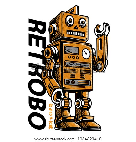 retrobo toys illustration