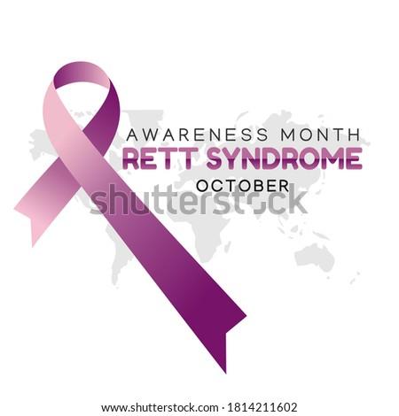 Rett syndrome awareness month vector illustration Stock fotó ©