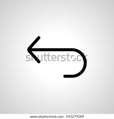 return icon. isolated sign