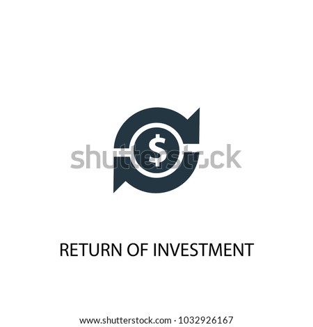 Return of investment icon. Simple element illustration. Return of investment symbol design from Startup collection. Can be used for web and mobile.