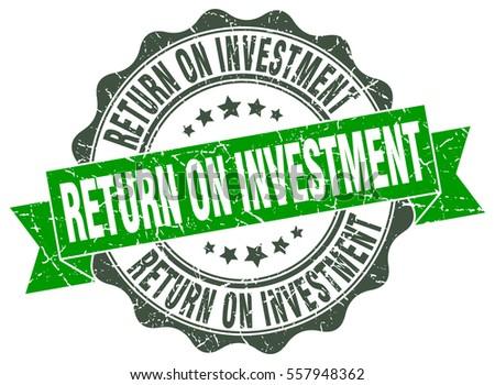 return on investment. stamp. sticker. seal. round grunge vintage ribbon return on investment sign