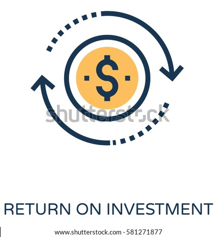 return on investment vector...