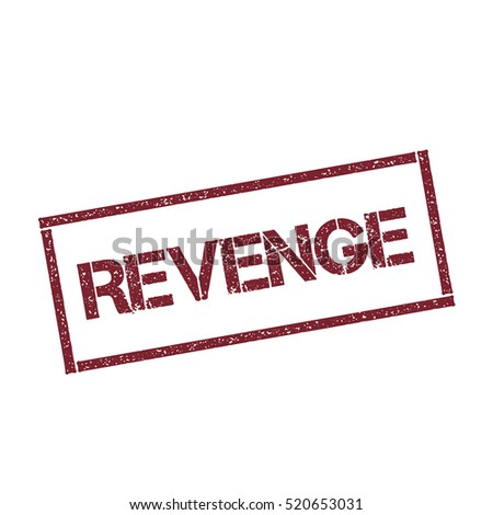 revenge rectangular stamp