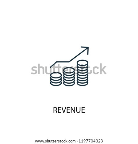 revenue concept line icon. Simple element illustration. revenue concept outline symbol design. Can be used for web and mobile UI/UX