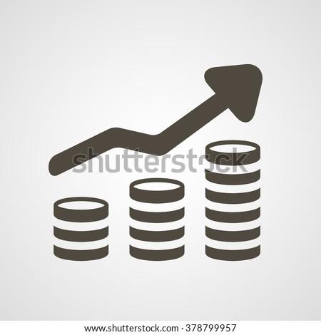 Revenue growth increasing graph (money trending icon)