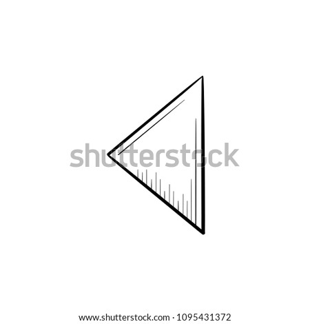 Reverse button hand drawn outline doodle icon. Reverse playing media control concept vector sketch illustration for print, web, mobile and infographics isolated on white background.