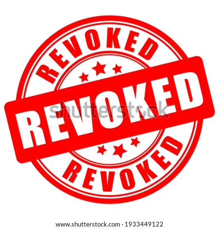 Revoked vector sign isolated on white background Photo stock ©