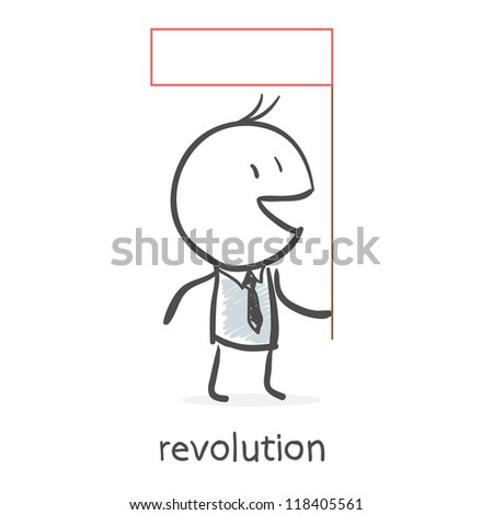 Revolution - stock vector