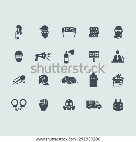 revolution vector set of modern simple icons