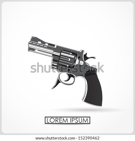 revolver isolated on white