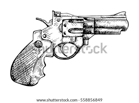 revolver vector engraving