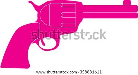 revolver vector illustration