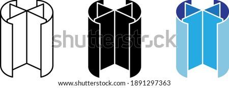 Revolving door icon, line vector illustration Foto stock ©