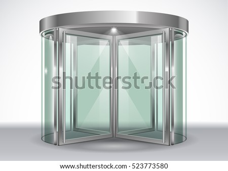 revolving door shopping center