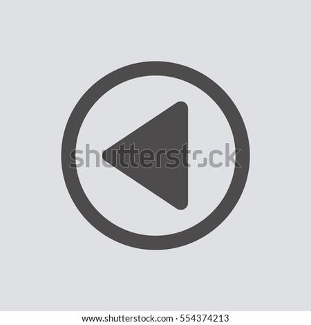 rewind icon, isolated. Flat  design.  #554374213