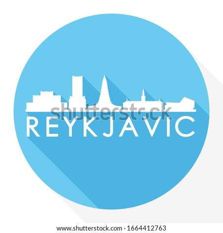 reykjav k  iceland flat icon