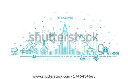 reykjavik iceland line skyline